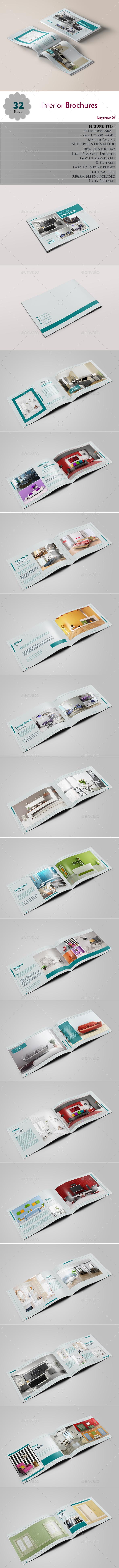 Interior Brochures Layerout 03 - Brochures Print Templates