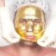 Spa Therapy for Handsome Men Receiving Facial Mask. . . Reception of a Cosmetologist. Golden Mask - VideoHive Item for Sale