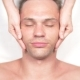 Man Getting a Face Massage. Massage the Face and Neck. Lying in the Office of the Kasmetologist - VideoHive Item for Sale