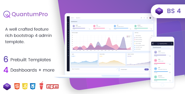 Image of QuantumPro - Bootstrap 4 Dashboard & UI Kit