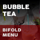 Bubble Tea Cafe Bifold / Halffold Menu 2 - GraphicRiver Item for Sale