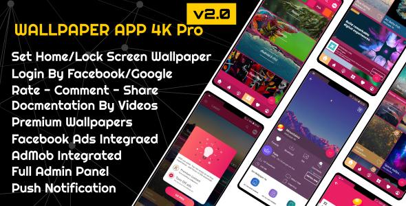 4K Wallpaper App Pro v2.0 -  Material Design - CodeCanyon Item for Sale