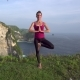 Woman Doing Yoga Exercises, Tree Pose - VideoHive Item for Sale
