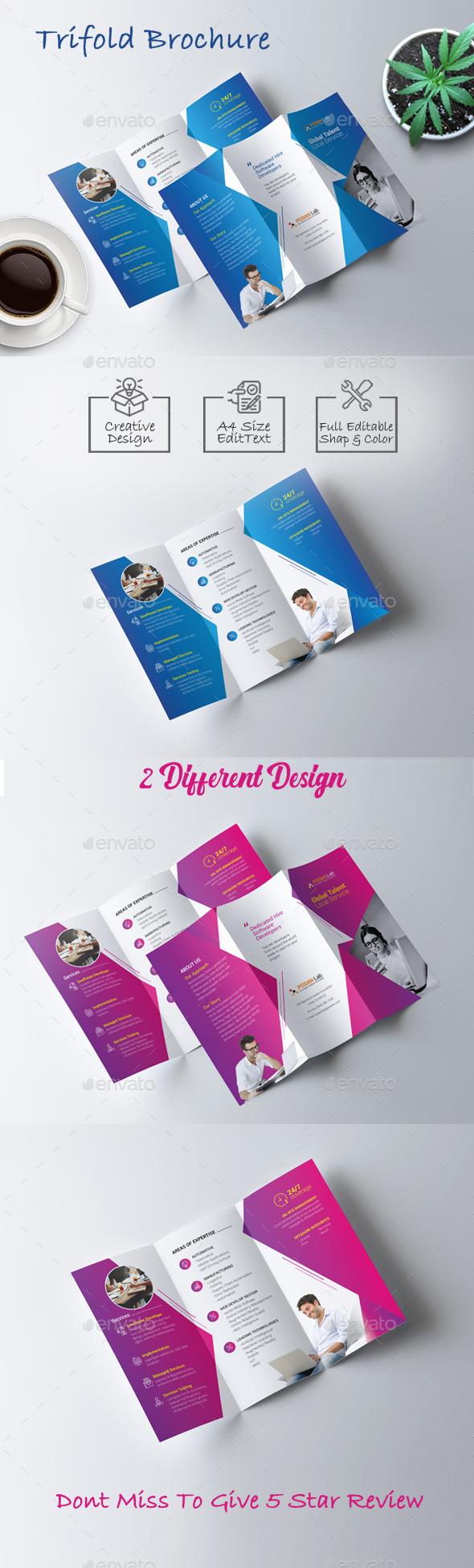 Trifold Brochure Template - Brochures Print Templates