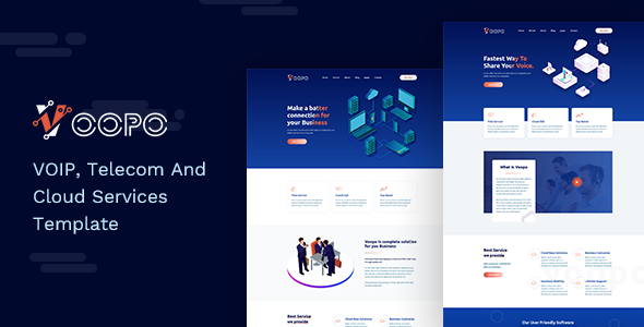 Voopo - VOIP, Telecom And Cloud Services Template - Business Corporate