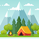 Summer Camping - GraphicRiver Item for Sale