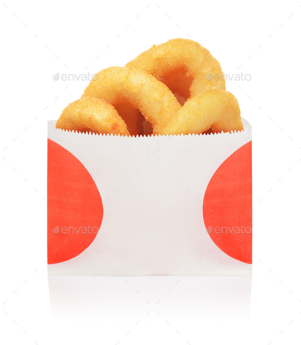Onion rings isolated - Stock Photo - Images