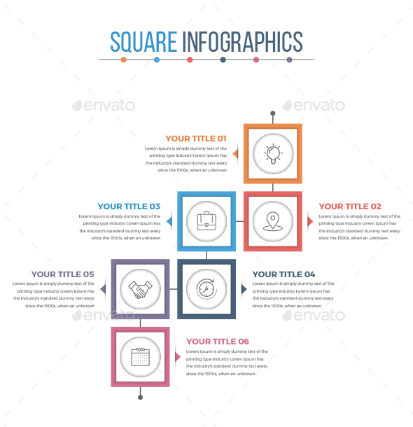 Modern Square Infographics - Infographics