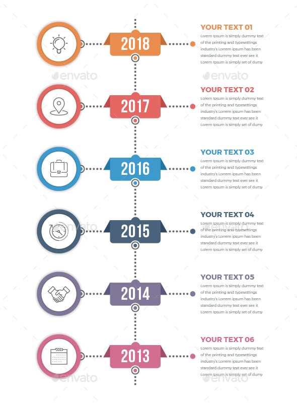 Vertical Timeline Infographics by Design_Sky | GraphicRiver