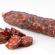 Iberian sausage cut isolated on white - PhotoDune Item for Sale