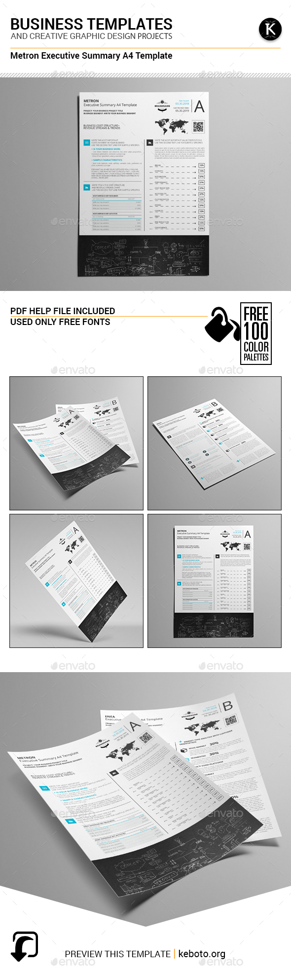 Metron Executive Summary A4 Template - Miscellaneous Print Templates