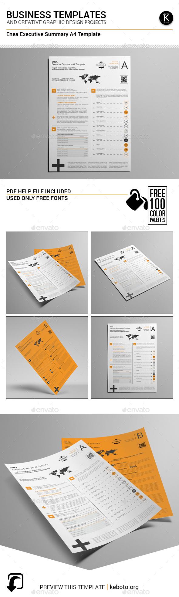 Enea Executive Summary A4 Template - Miscellaneous Print Templates