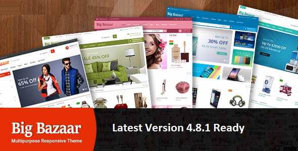 Image of BigBazaar - Multipurpose Responsive CS-Cart Theme