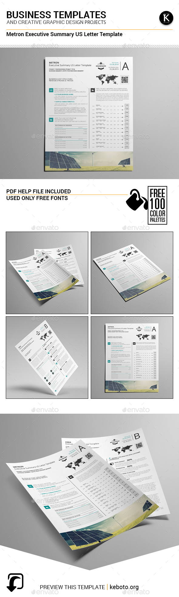 Metron Executive Summary US Letter Template - Miscellaneous Print Templates