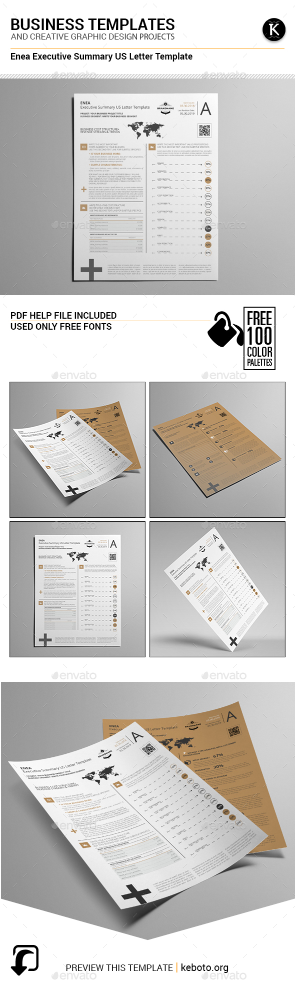Enea Executive Summary US Letter Template - Miscellaneous Print Templates