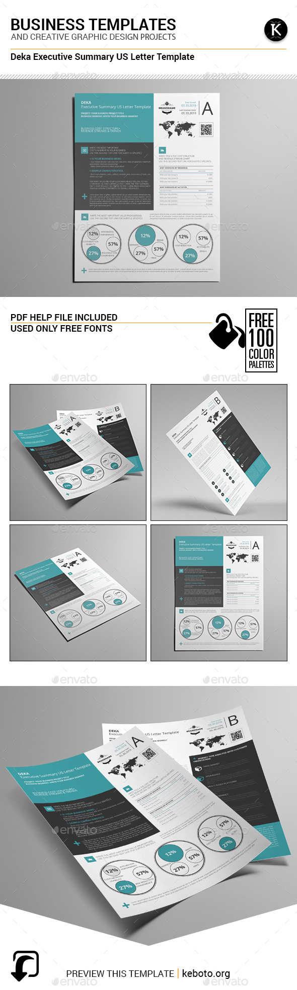 Deka Executive Summary US Letter Template - Miscellaneous Print Templates