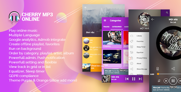 Cherry - Android Online Music Player with Admin Panel            Nulled