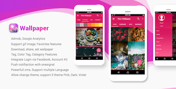 Strawberry - Android HD WallPaper with Admin Panel nulled