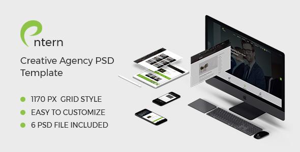 Entern - Creative Agency PSD Template - PSD Templates