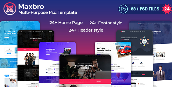 Maxbro-Multi-Purpose-Creative PSD Template - PSD Templates