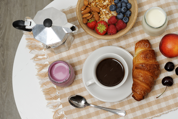 breakfast table - Stock Photo - Images