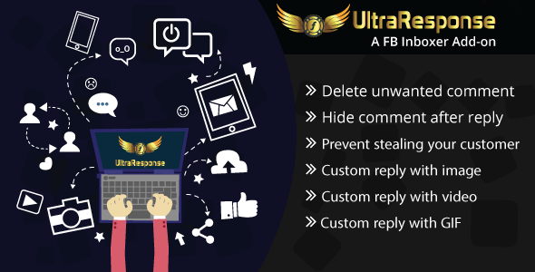 UltraResponse - A FB Inboxer Add-on : comment hide/delete & image/gif/video auto reply - CodeCanyon Item for Sale