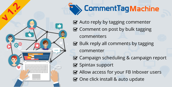 CommentTag Machine - A FB Inboxer Add-on for tagging post commenters of Facebook Pages - CodeCanyon Item for Sale