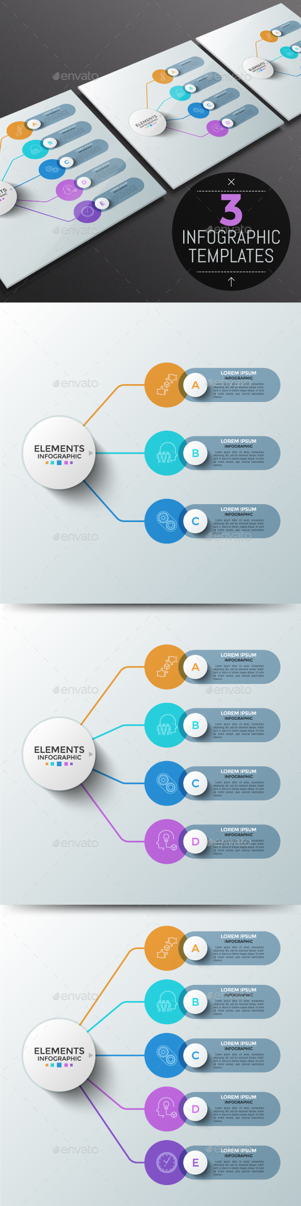Modern Infographic Choice Templates (3 Items) - Infographics