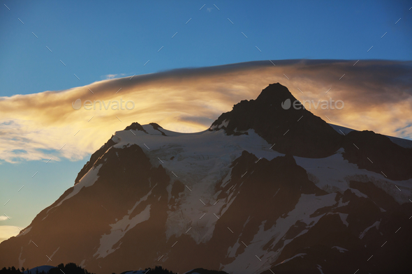 Mt Shuksan - Stock Photo - Images