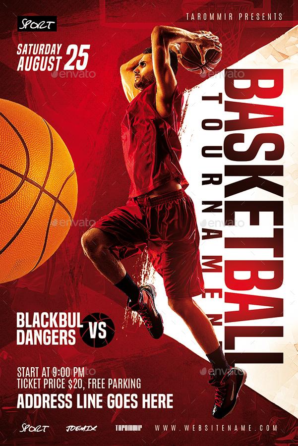 basketball tournament flyer by tarommir