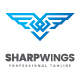 Sharp Wings Logo - GraphicRiver Item for Sale