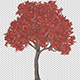 Tree With Red Leaves In The Wind - VideoHive Item for Sale