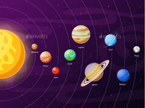 cartoon solar system scheme by tartila graphicriver sport team logo generator Design Your Own Logo