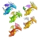Set of Colorful Dragon Isolated