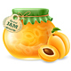 Apricot Jam in a Glass Jar - GraphicRiver Item for Sale