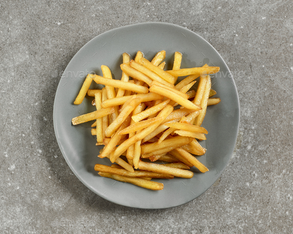 plate of french fries  - Stock Photo - Images