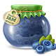 Blueberry Jam in a Glass Jar - GraphicRiver Item for Sale