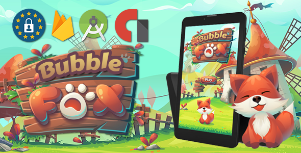 Fox Bubble shooter (admob , firebase , android studoi            Nulled