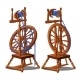 Set of a Working and Broken Antique Spinning Wheel - GraphicRiver Item for Sale