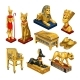 Set of Attributes for Ancient Egyptian Jewelry - GraphicRiver Item for Sale