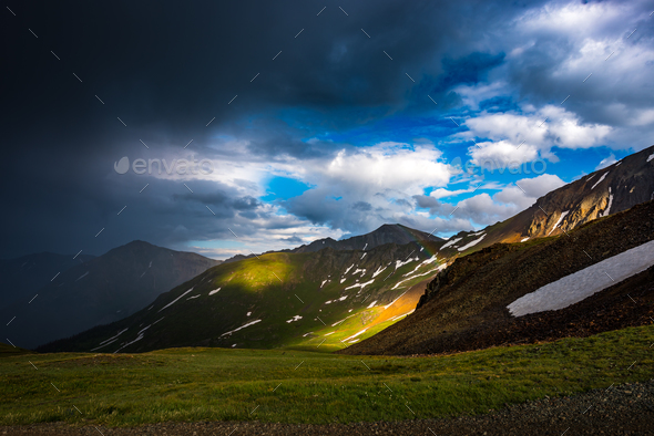 Cinnamon Pass Colorado after the rain - Stock Photo - Images