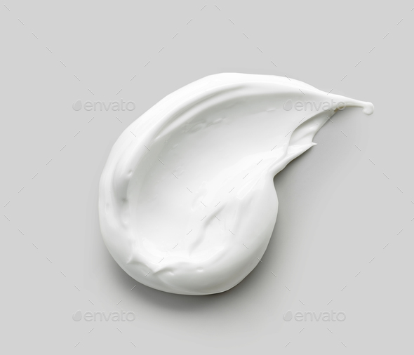 white cosmetic cream - Stock Photo - Images