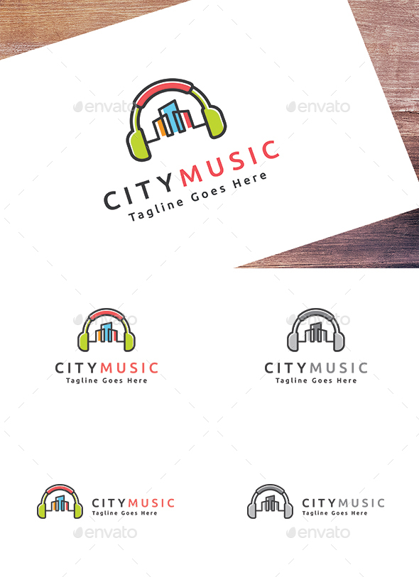 City Music - Buildings Logo Templates