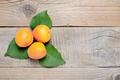 Apricots on wooden table top view - PhotoDune Item for Sale