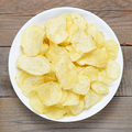 Potato chips in bowl close-up - PhotoDune Item for Sale