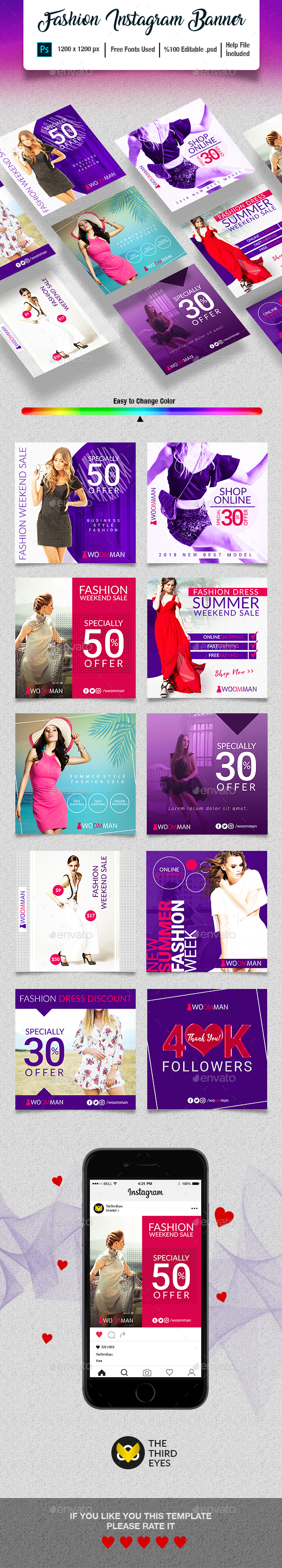 Fashion Instagram Banner - Social Media Web Elements
