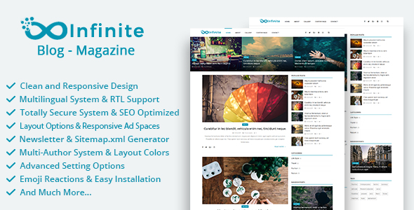 Infinite - Blog & Magazine Script - CodeCanyon Item for Sale