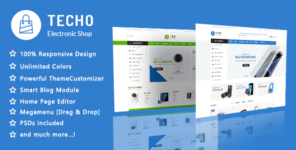 Image of Techo - Minimalist Shopping Electronics Responsive Prestashop 1.7 Theme