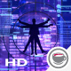 Vitruvian Man On The Background Of Neon Lights - VideoHive Item for Sale