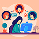 Girl Remotely Communicates with Friends - GraphicRiver Item for Sale